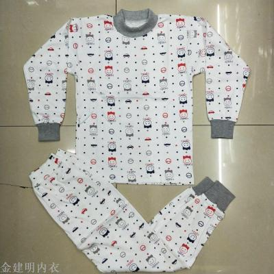 BOR spring children's clothing for fall/winter scene boys and girls cotton underwear children's thermal underwear