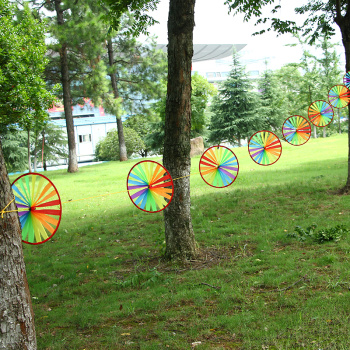 Outdoor six-color fabric windmill windmill windmill Festival decoration rope area kindergarten wholesale