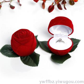 Jewelry Box Rings Box Jewelry Accessories Boxes Flannel Jewelry Packaging Gift Box Rose Hearts