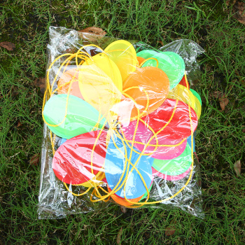 Outdoor six-color fabric windmill windmill windmill Festival decoration rope area kindergarten wholesale