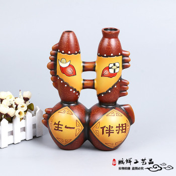 Home accessories decorative ornaments doll fish auspicious ceramic hand - carving creative modern crafts furnishings