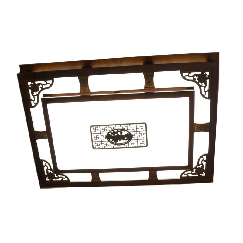 中国风实木客厅灯 长方形古典书房卧室餐厅led灯具