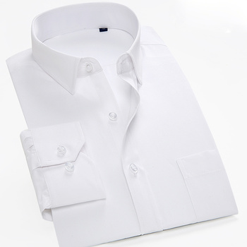 Perennial spot supply mega-code tooling solid-colored coarse-twill men's long-sleeved shirt constantly goods