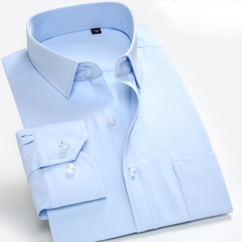 Large size men's fine twill hot men's business dress is free of hot shirt work white shirt