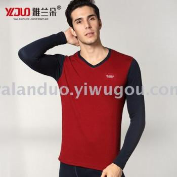 Yalanduo thermal underwear male V-neck young men's Qiuqiu pants suit