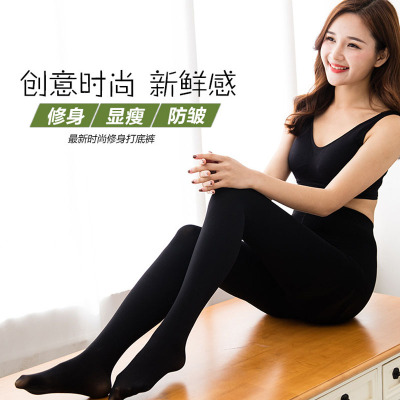 Autumn and winter section of nylon dragon claw hair pants plus cashmere warm leggings ladies pantyhose