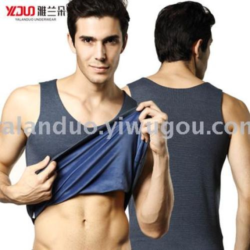 Yalanduo men warm vest winter base under the base of thermal underwear plus cashmere thickening close