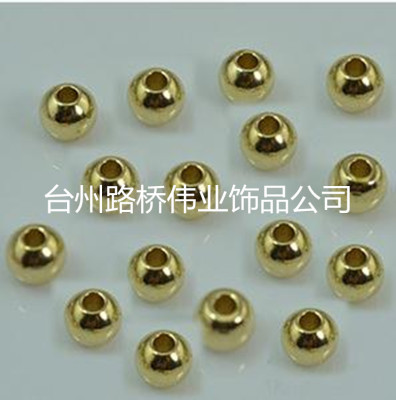 Brass copper beads solid beads beads perforated beads jewelry accessories
