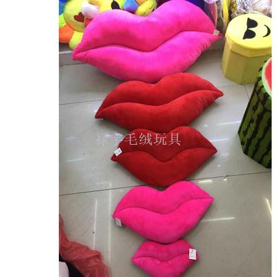 Wholesale creative sexy lips pillow plush toys red lips pillow pillow wedding gift throwing