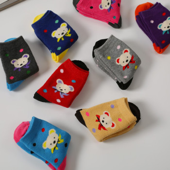 Children socks Terry socks cartoon socks bear knee socks