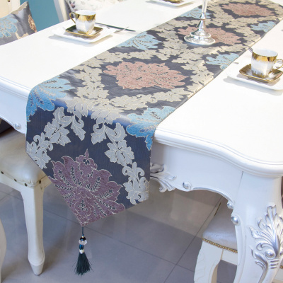 Table cloth table flag European style new classical relief pendant cloth art set tea table flag.