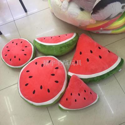 Summer new watermelon pillow cushions fruit pad plush toys doll wholesale simulation half watermelon
