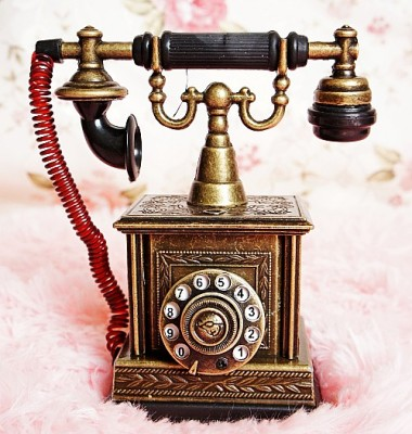 Supply Metal Crafts Zinc Alloy Telephone Model Crafts Home Decoration