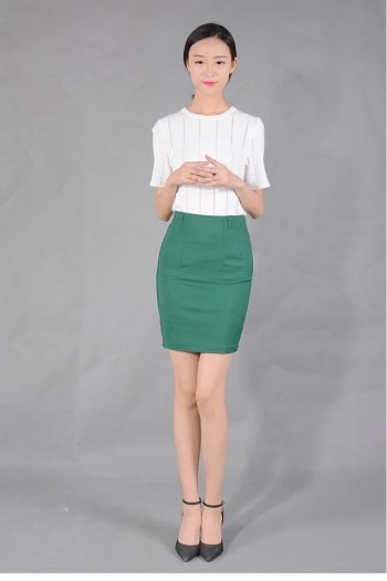Piece skirt female Korean students career A word package skirt autumn and winter 2017 new thin thin pants industry