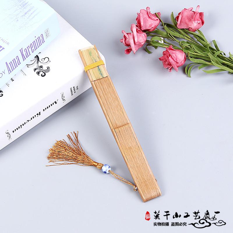 雕刻扇子镂空折扇女扇手绘古风礼品中国风纪念品竹扇