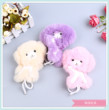 Cute monkey fur hanging pieces of real plush cute plush rabbit hair cartoon keychain