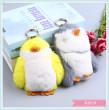 Penguin fur - hung - leather key chain cartoon real hair key chain pendant