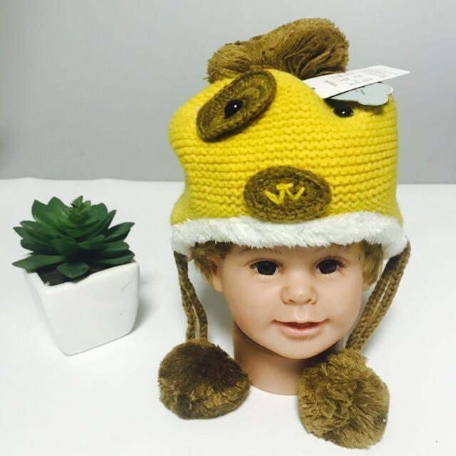 可爱娃娃冬季新款护耳帽婴儿帽子儿童帽男女