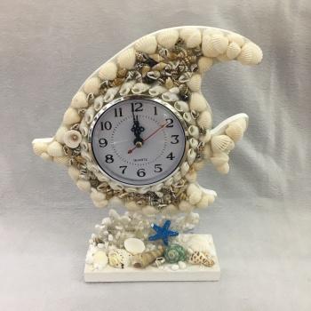 Creative Shells Taiwan Clock Modern Study Fashion Clock Clock Mediterranean Shell Watch Art