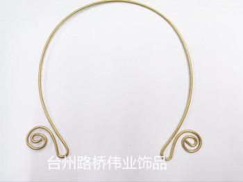 Brass hair band hoop hair ornaments DIY accessories