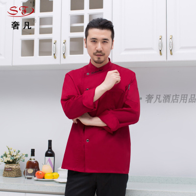Hotel chef clothes uniforms made of Chinese-style chef clothes double
