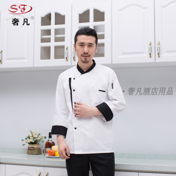 Hotel chef suits uniforms made of Chinese Western chefs clothing triangle