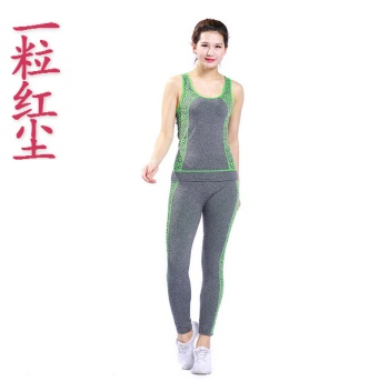 Running yoga clothes new summer sportswear suit ladies fitness suits two sets of gym room was thin wholesale
