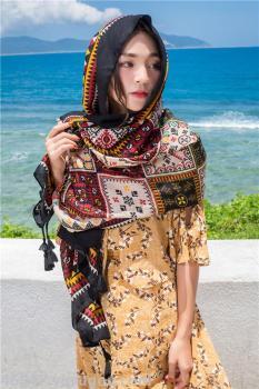 百变防晒披肩围巾两用海边度假沙滩巾