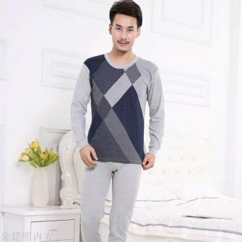 Golden horses leisure jacquard men 's cotton underwear Qiuqiu pants warm underwear suit