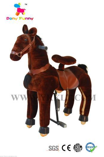 Toy electric Trojans mechanical horse plush toys children Trojan rocking chair