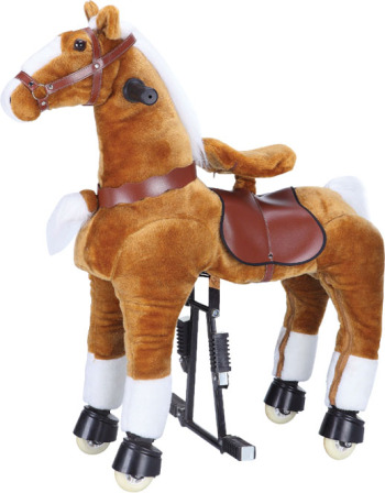 Toys Electric Trojans Machinery Trojan plush toys Zhuge Trojan children wooden horse rocking chair