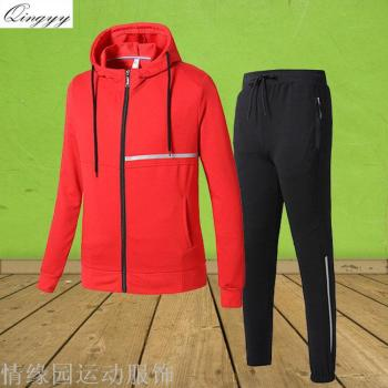 2017 cotton sportswear for fall/winter fashion lovers and leisure Outdoor running suit