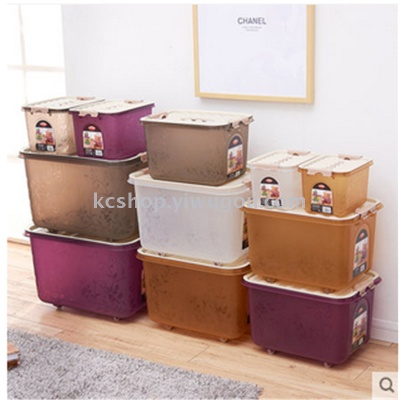 Storage Boxes Plastic Storage Box Clothing Clothes Storage Bed Queen King  Size Storage Box Lid Boxes