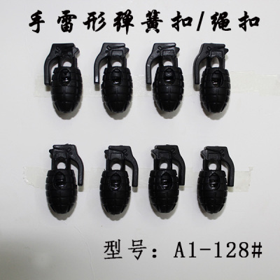 Hand grenade shaped spring buckle