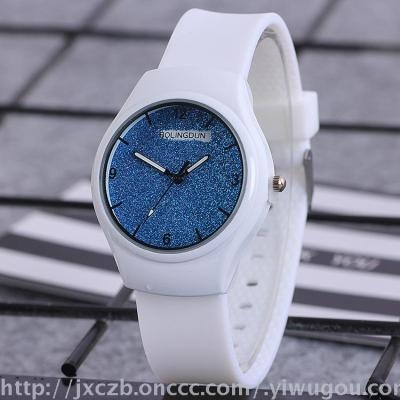 Derivative of hot-selling new simple and luminous star wristwatch sports watch silicone watch