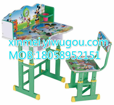 Xinmei 03 cartoons to lift a child desk MDF iron writing desk and Chair desk and Chair