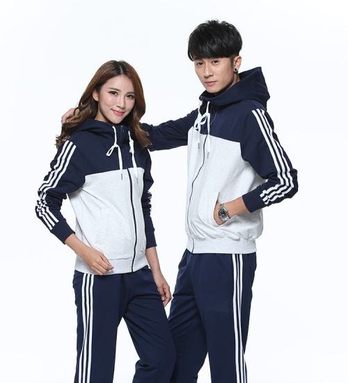Spring and autumn fashion men casual hooded sportswear suits groups wear school uniform customization