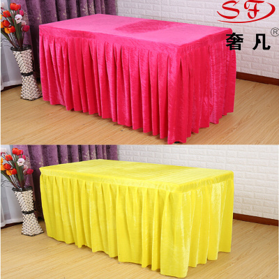 Order tablecloths cloth table skirt Office Hotel wedding table cloths