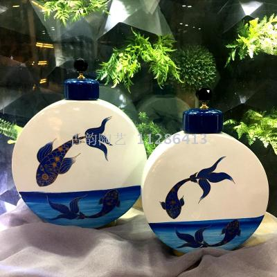 New Chinese ceramic vases ceramic crafts home decorations ornaments