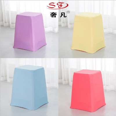 Hotel activities home stretch plastic stool stool Chair cover Chair cover Chair cover hotel multi-color customized