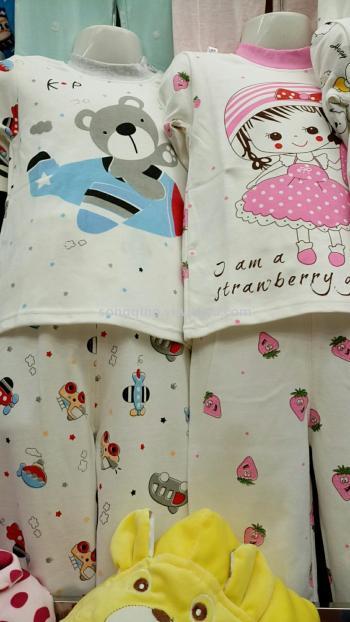 Cotton underwear for children 0-6, children shoulder buckle cotton sweater