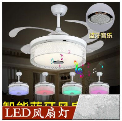 Supply factory direct bluetooth music stealth ceiling fan light fan factory direct bluetooth music stealth ceiling fan light fan light led control lamp remote control wall aloadofball Image collections