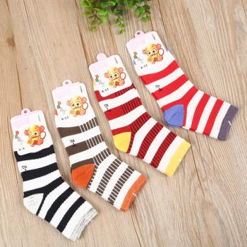 2017 New striped socks, children's socks, cotton socks.