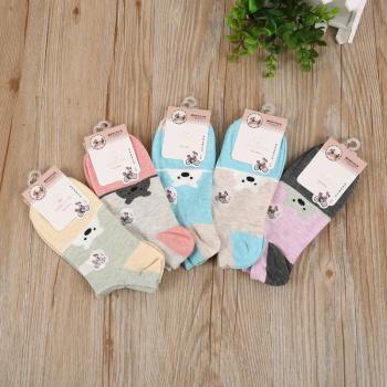 2017 new cotton female boat socks comfort children socks cartoon Socks