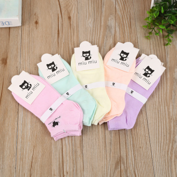 2017 new cartoon Boat socks candy-colored socks kitten girl socks