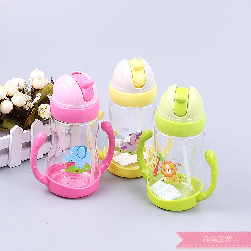 宝宝学饮杯儿童吸管杯水杯幼儿园喝水杯婴儿饮水杯带