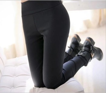 New autumn and winter plus velvet slim size wearing women's thermal underwear pants feet pants