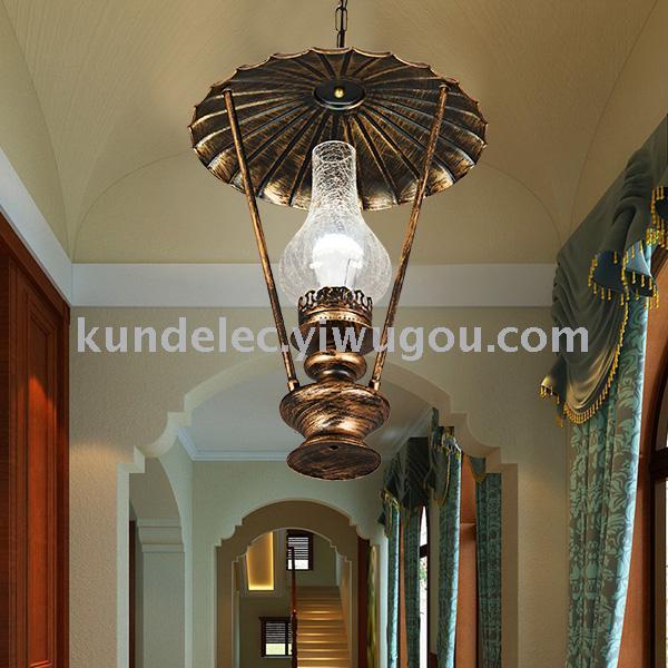 复古油灯欧式提灯灯饰仿古马灯仿真蜡烛灯古典欧式灯