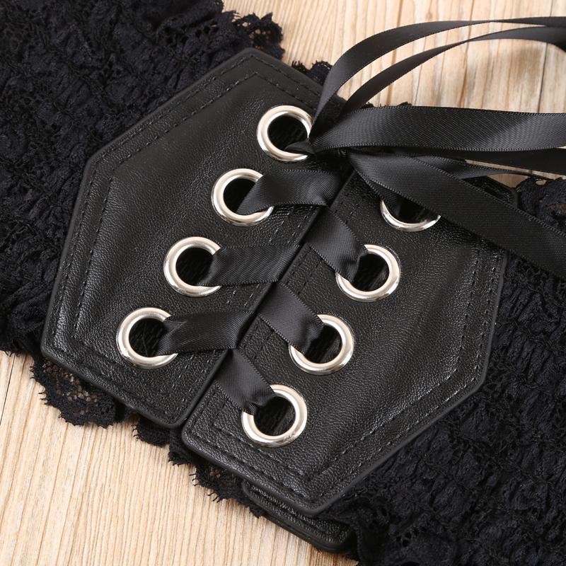 蕾丝花边设计百搭松紧女士腰带 时尚装饰连衣裙腰封