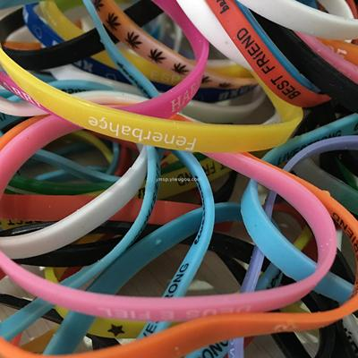 Printed silicone bracelets in stock low price
